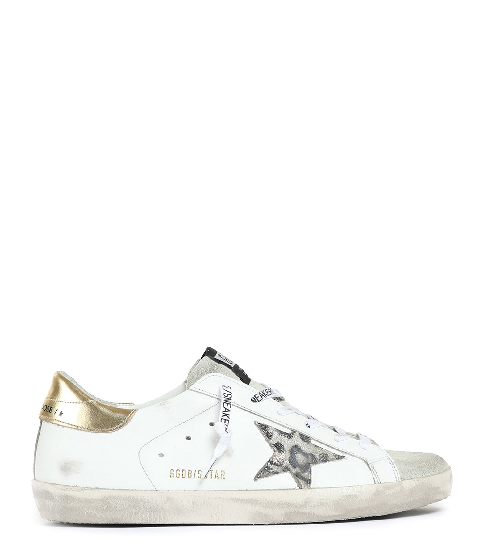 Baskets Superstar Cuir Blanc Logo