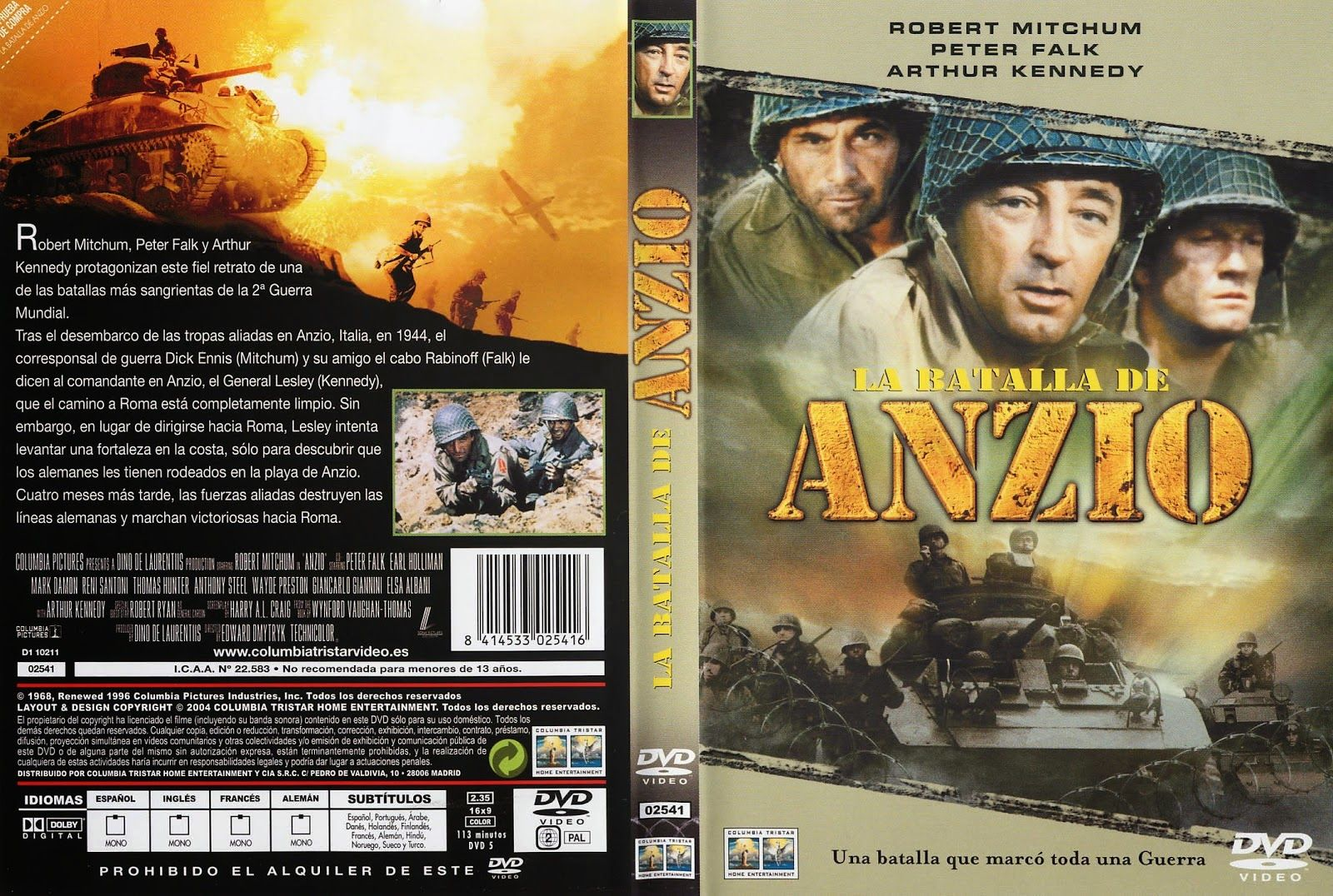 Carátula dvd: La batalla de Anzio (1968) (Lo sbarco di Anzio)