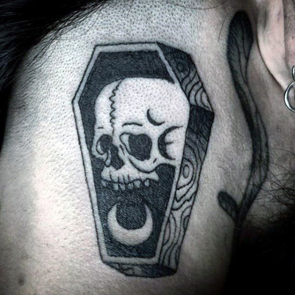 Top 43 Small Skull Tattoo Ideas 2020 Inspiration Guide Small Skull Tattoo Tattoos For Guys Coffin Tattoo