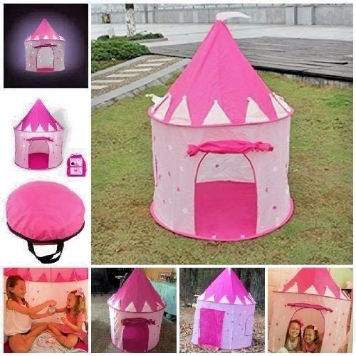 Kids Play Tent Castle Play House Glow in the Dark Stars BACKYARD Indoor Outdoor & Kids Play Tent Castle Play House Glow in the Dark Stars BACKYARD ...