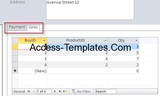 Access Student Database Course Fees Design Templates  Places To