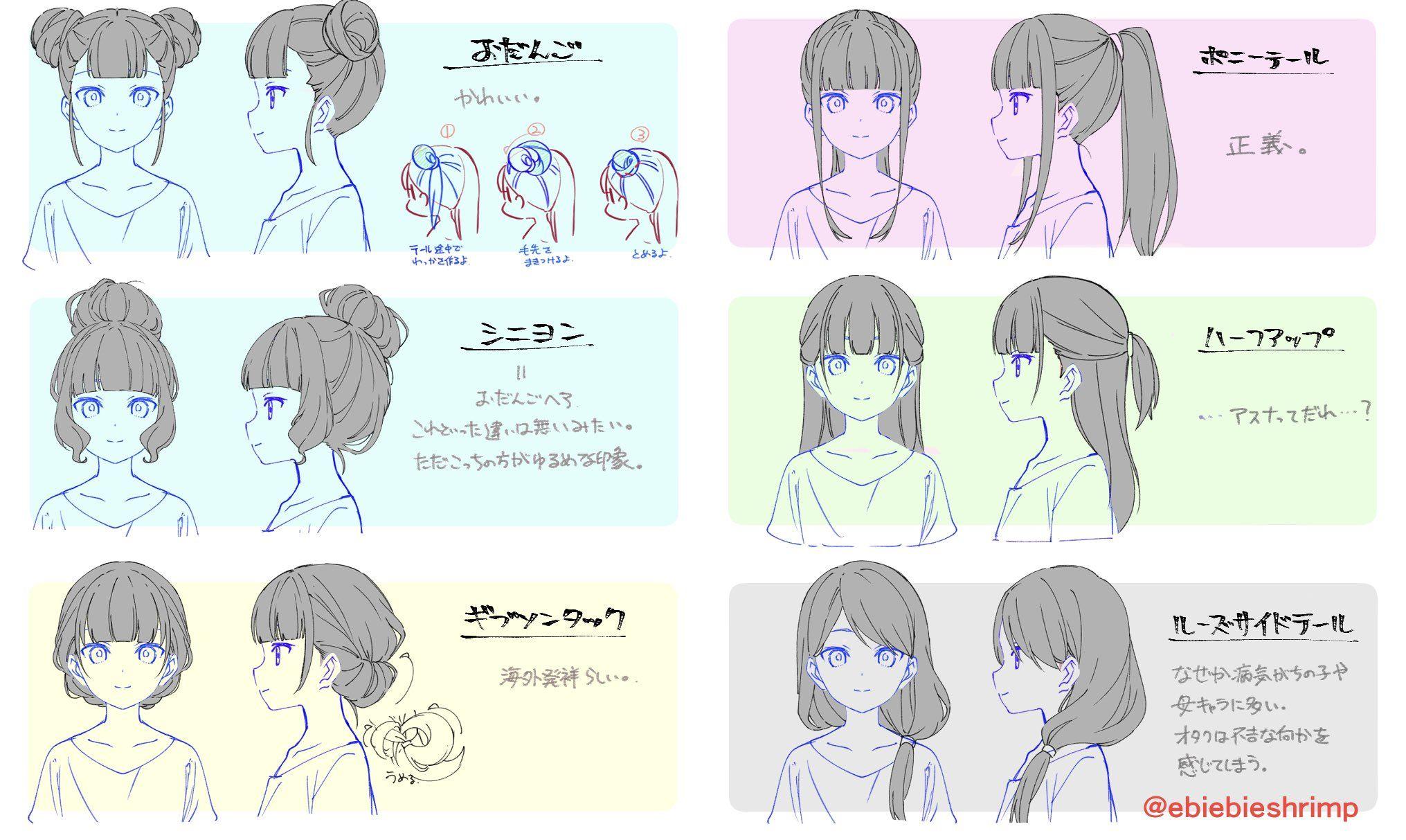 朱里 Shuri On Twitter How To Draw Hair Hair Sketch Character Model Sheet