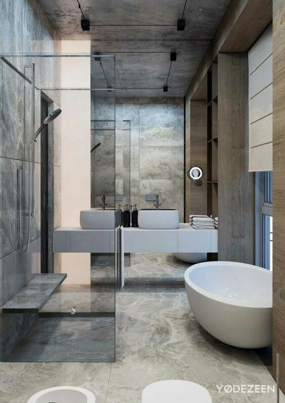 Ultra Modern Earth Serene Bathroom Bathroom Bathroom Modern - Ultra-modern-bathroom
