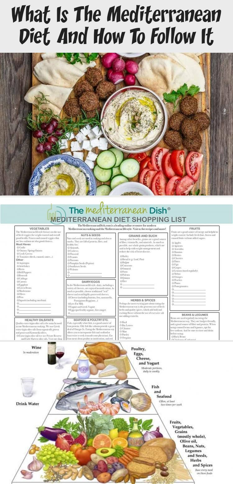 What Is The Mediterranean Diet And How To Follow It - health and diet fitness  #Diet #Fitness #Follo...