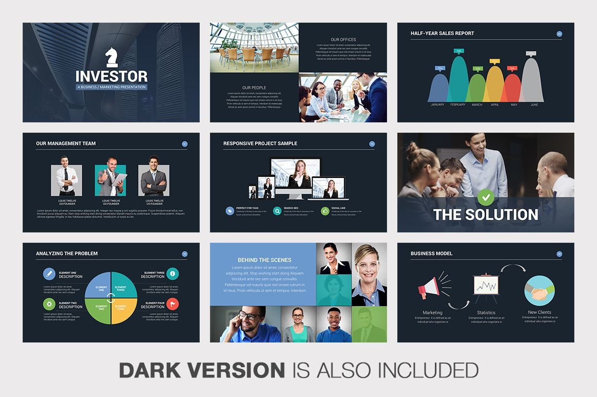 Investor Pitch Deck Powerpoint By Louis Twelve On Creative Market - Investor pitch deck template ppt