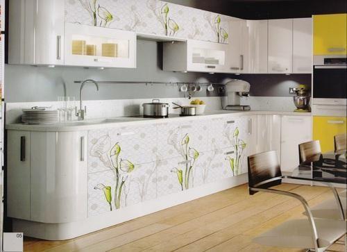 Modular Kitchen Laminate Screen Printed Digital Printed