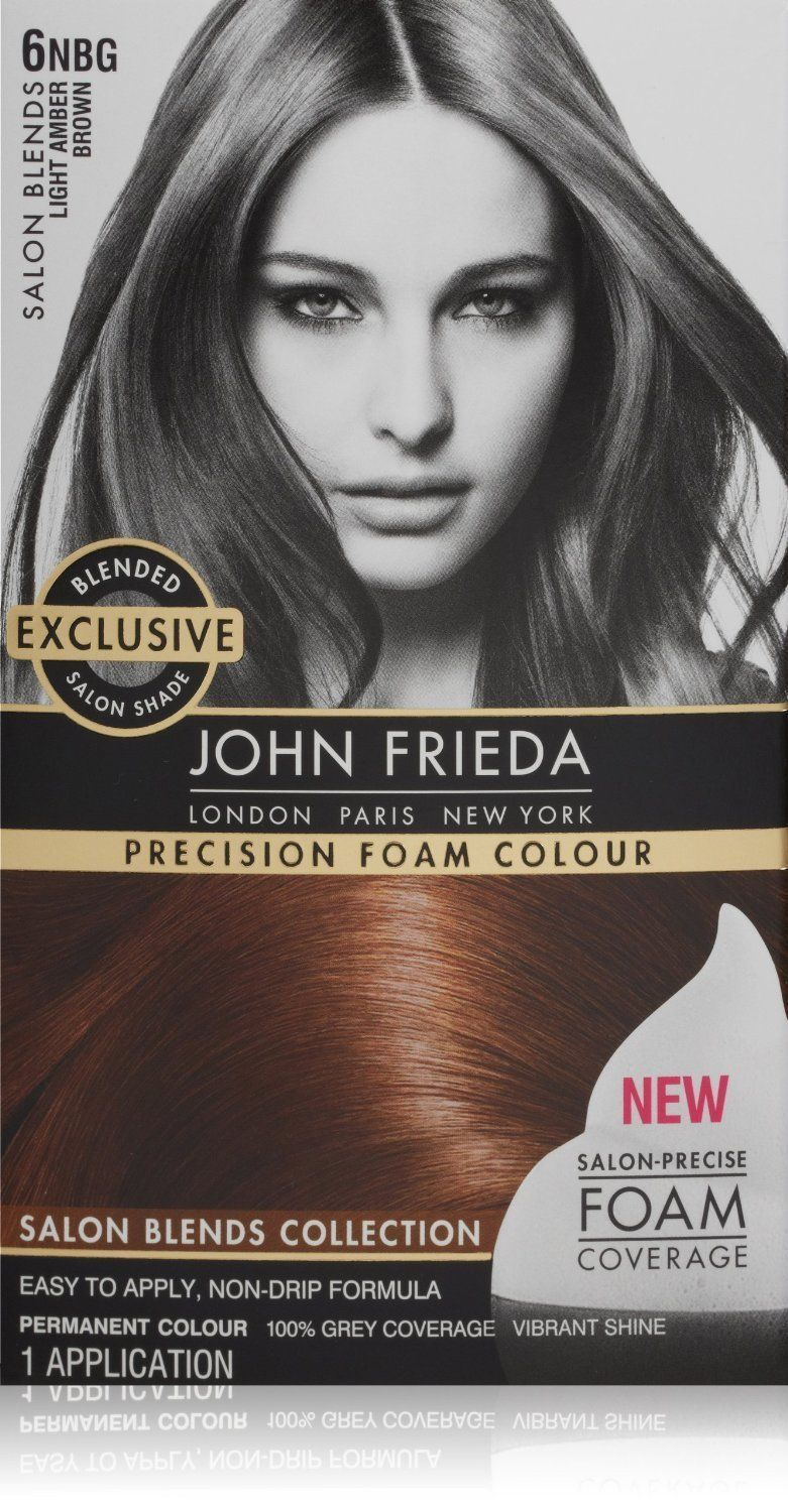 John Frieda Precision Foam Colour Permanent Hair Kit Light Amber Brown 6nbg 1 Each Pack Of 2 Click Image To Review More Details