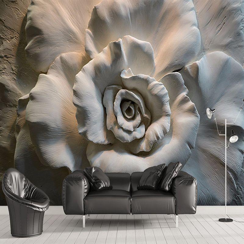 Pas Cher Peinture Murale Personnalisée Papier Peint Peinture Murale 3D  Relief Rose Fleur Papier Peint Pour