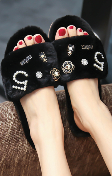 Coco Chanel Inspired Slippers by