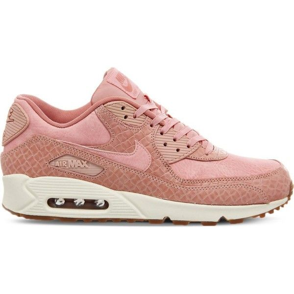sneakers for cheap 2a7d1 306e8 Nike Air Max 90 croc-embossed leather trainers (115) ❤ liked on Polyvore  featuring shoes, sneakers, croc footwear, crocodile shoes, pink sneakers,  ...