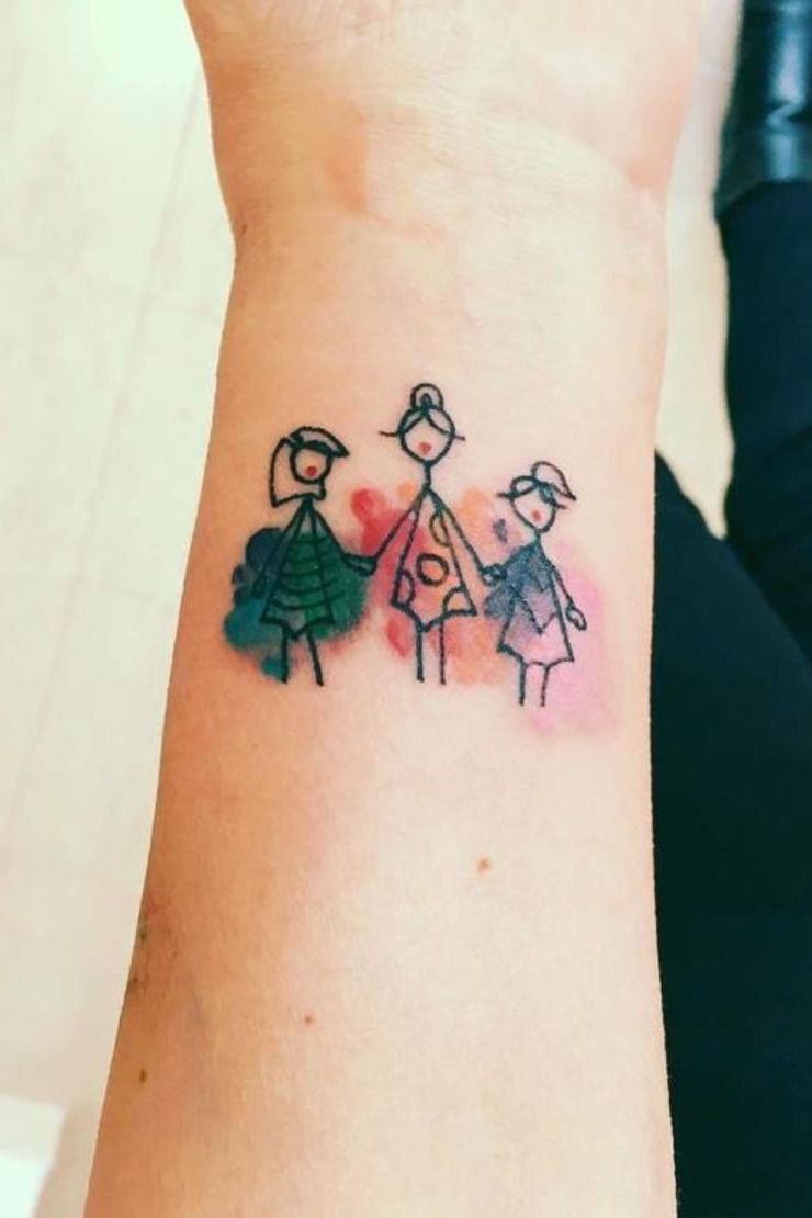 Tattoos to Celebrate Your Children | More Kids Drawings Tattoo | Beanstalk Single Mums