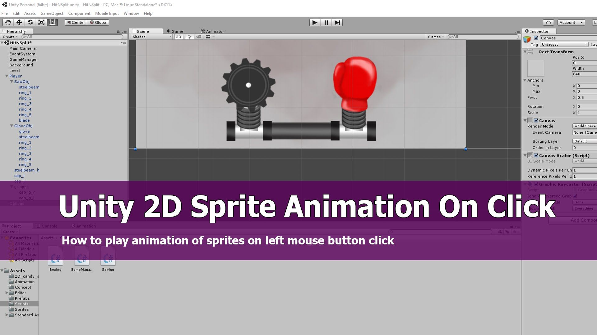Unity 2D Sprite Animation On Click Tutorial | Neat Game