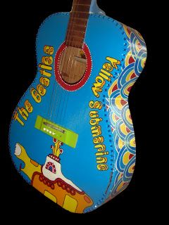 I Got A Guitar I Want To Paint I Will Paint It Like This Retro Artwork Painted Ukulele Guitar Painting