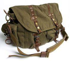 Vintage Green Canvas     Vintage Green Canvas Messenger Bag  #canvasmessengerbag   #canvasleatherbag   #messengerbag