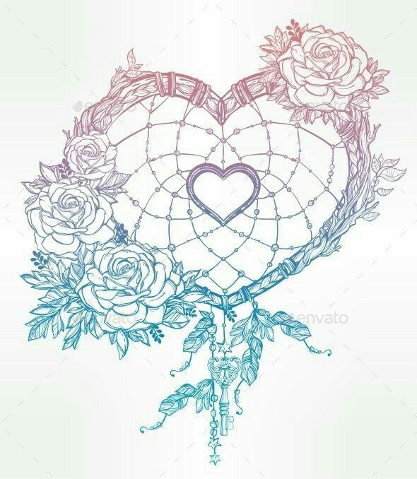 Rose love dream catcher tattoo | Tattoos, Piercings, and Hair ...