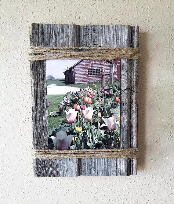 Barnwood Frame 5 x 7, altes Scheunenholz, recycelt, wiederverwendet, zurückgefordert, Vintage Fa ... #altes #barnwood #frame #recycelt #scheunenholz #wiederverwendet #zuruckgefordert #rusticwoodprojects