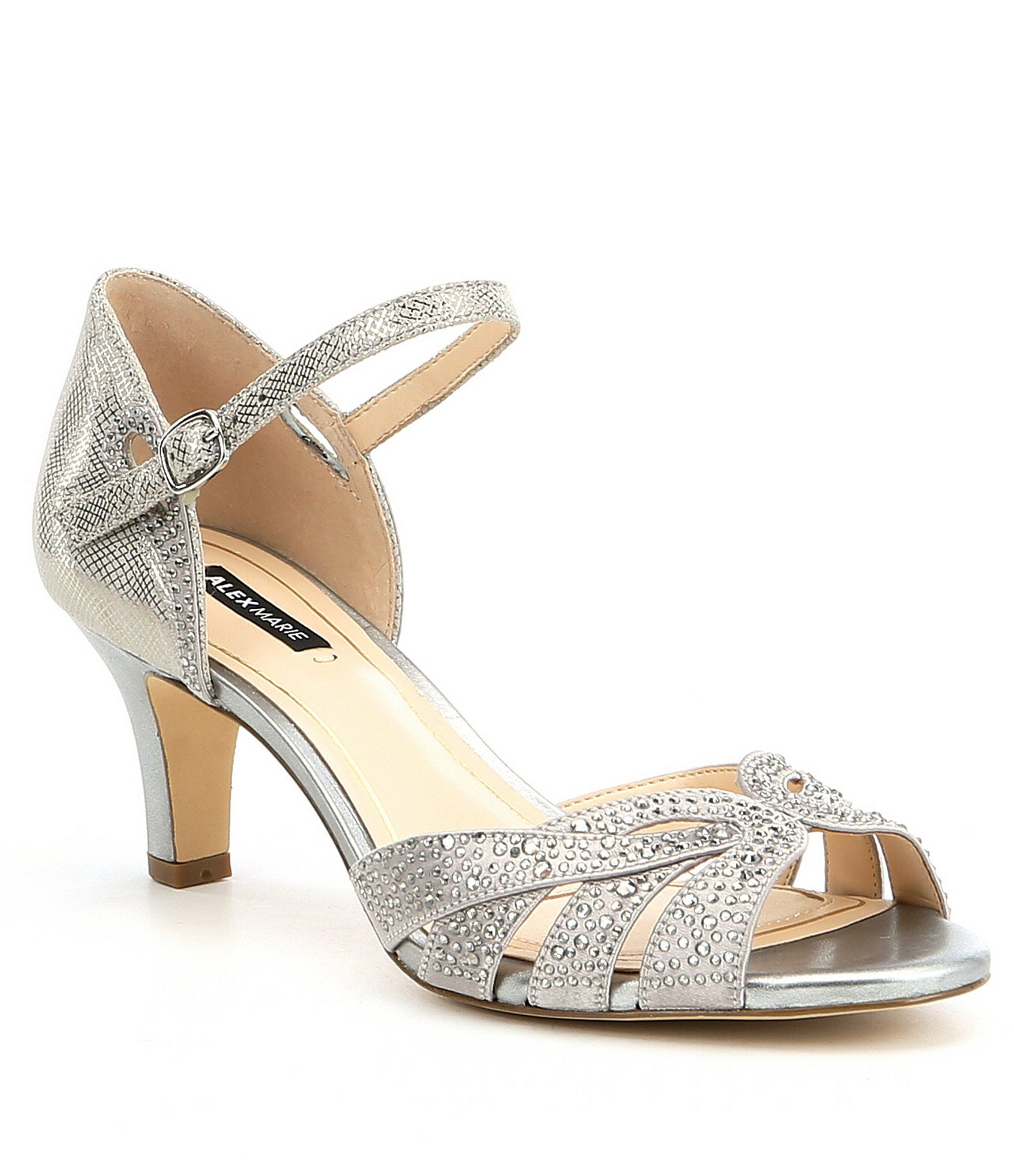 2e245e161569 Alex Marie Mariane Satin Rhinestone Detail Dress Sandals