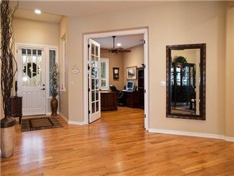 Stained Interior Doors With White Trim