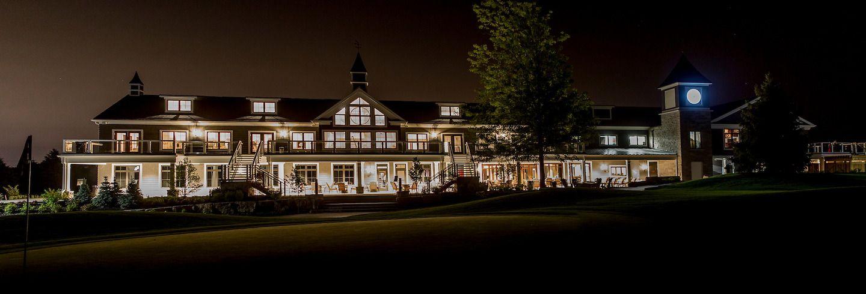 Wedding Venue Beautiful Elegant Night Time Lights Trees