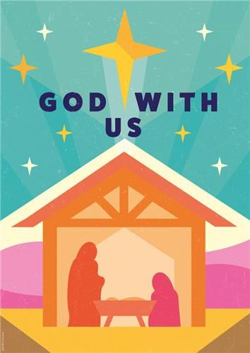 God with us Stable  Christmas - Posters  Christian Publishing and