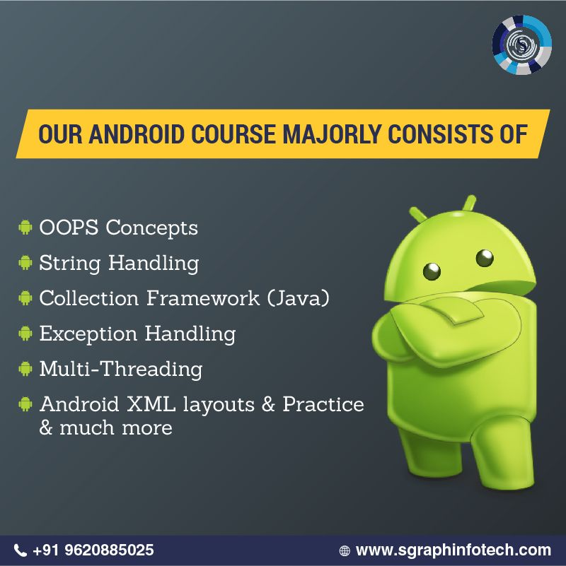 Sgraph Infotech is providing training in Android Application