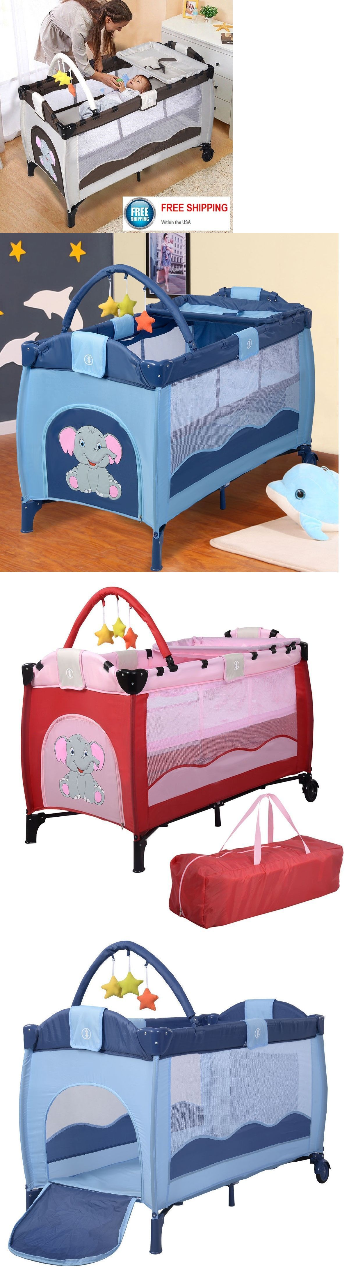 cribs 2985 portable baby crib bassinet playpen travel folding bed