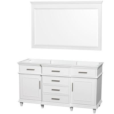Wyndham Collection Berkeley 60 in Vanity Cabinet with Mirror in
