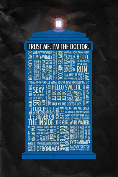 Trust Me, Iu0027m The Doctor. Doctor Who Art Print Through