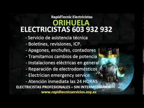 Electricistas ORIHUELA  Y COSTA 603 932 932 Baratos