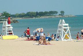 Lee Street Beach, Evanston, Illinois Many fun times there