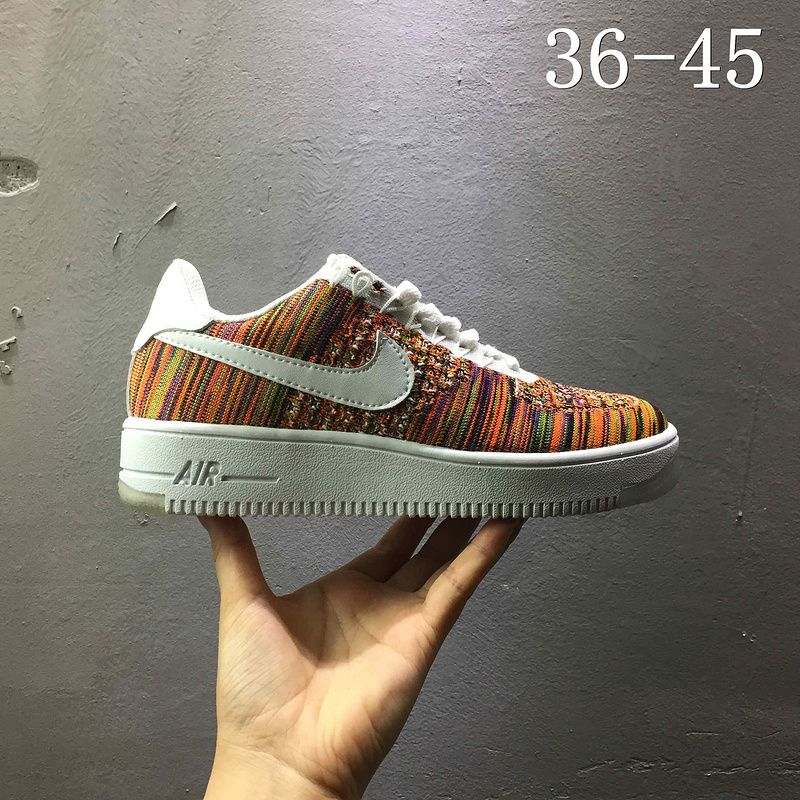 b76199c8a658b New Arrival Nike air force 1 AF1 Flyknit low Multi Color 820256 402 ...