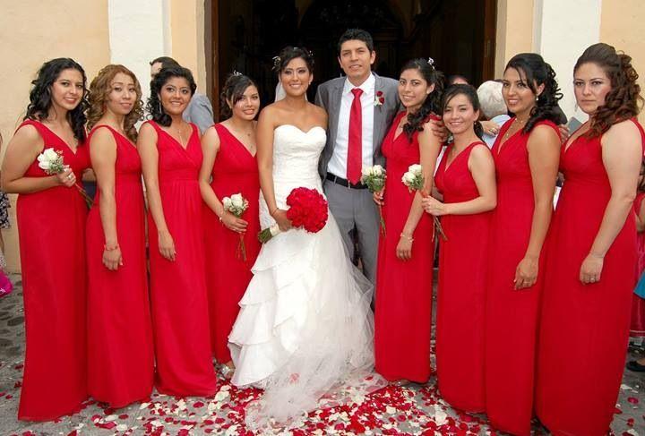 Bodas Vestidos De Dama En Color Rojo Tipstubodaenpavoreal