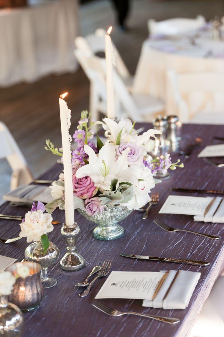 Romantic u elegant lavender wedding romantic wedding and centerpieces