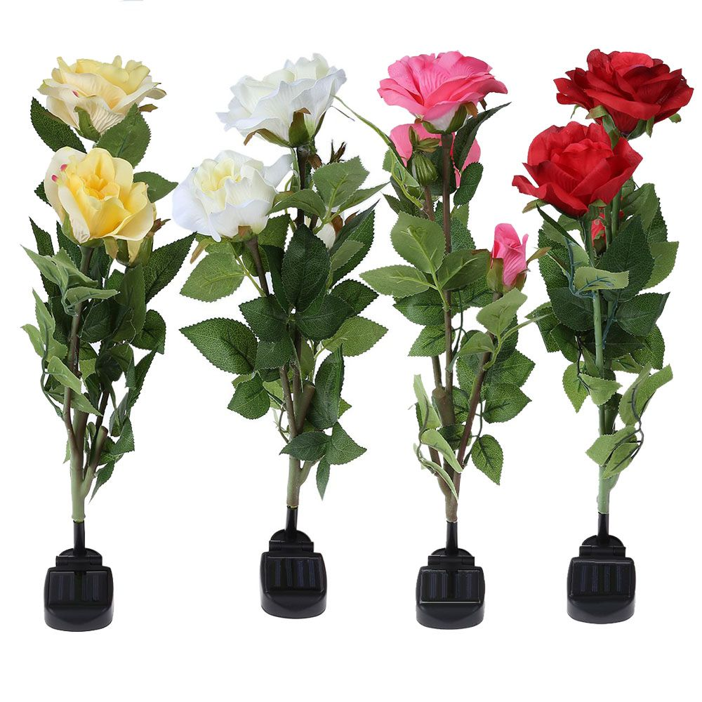 Outdoor Solar Powered LED Light Roses //Price: $40.32      #sale