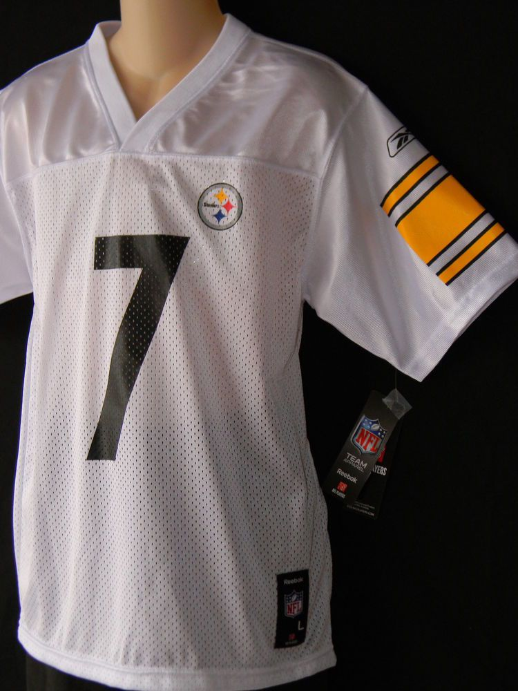 b8f4bad76dc Ben Roethlisberger Jersey Steelers Youth Sizes Football NFL Pittsburgh  White  Reebok  PittsburghSteelers Pittsburgh Steelers