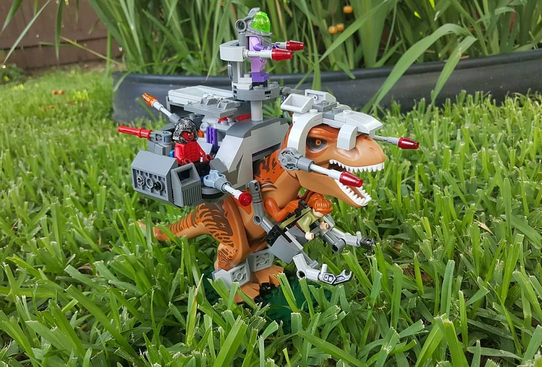 Continuing my 80's cartoon theme Lego mocs. The T-REX from ...