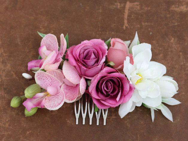 excepcional gama de colores unos dias bastante baratas Peineta con Flores | цветы из фома | Peineta flores, Tocados ...