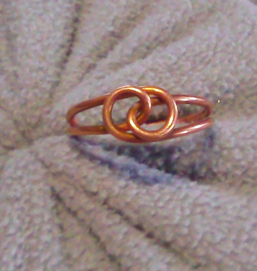 copper wire ring i made
