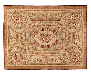 Tappeto Aubusson in lana a mezzo punto Floreal 244x305