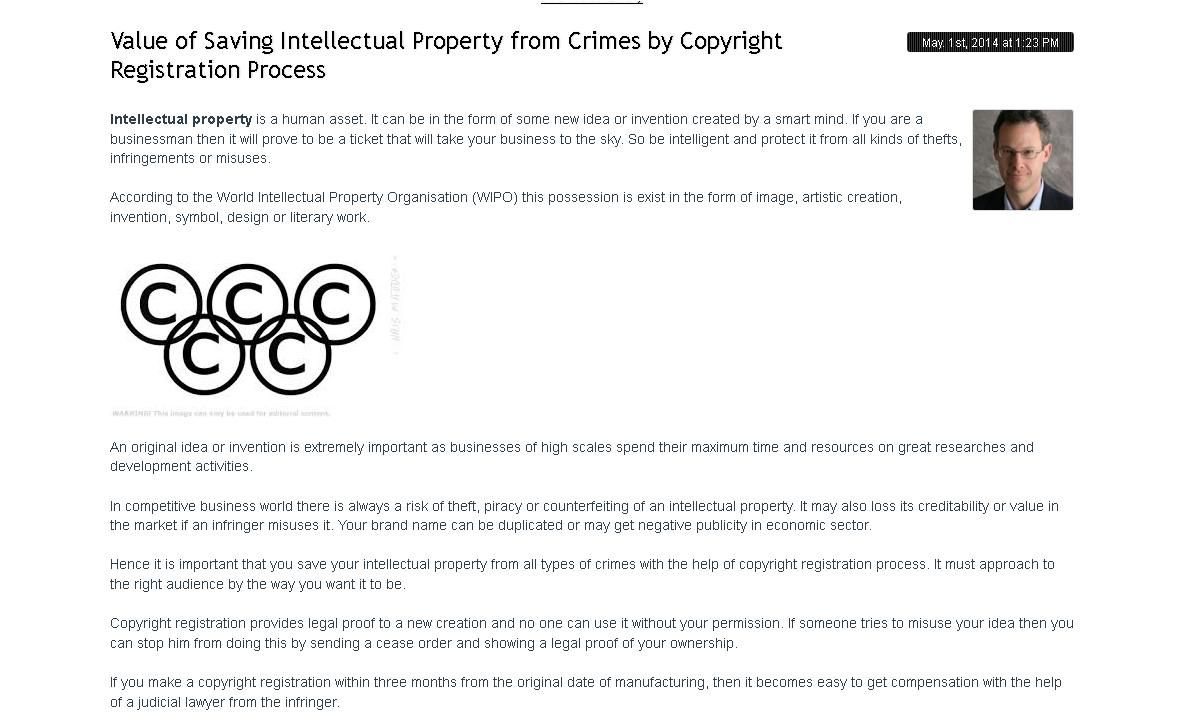 Value Of Saving Intellectual Property From Crimes By Copyright