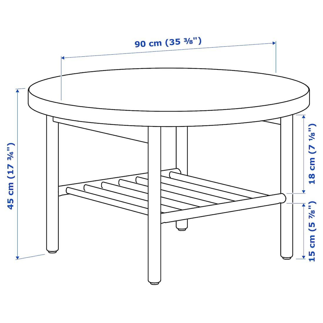 Listerby Coffee Table White Stained Oak 35 3 8 Ikea Coffee Table White Coffee Table Brown Coffee Table [ 1100 x 1100 Pixel ]
