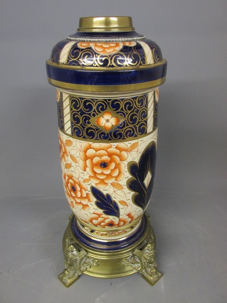Beautiful English Imari Oil Lamp Superb Condition Oil Lamps Imari Lamp