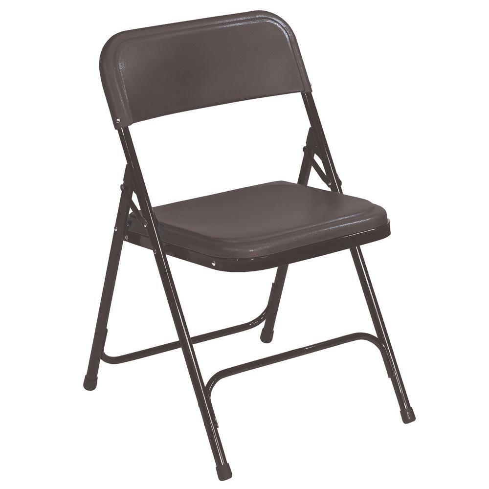Nps 800 Series Premium Black Lightweight Plastic Folding Chair