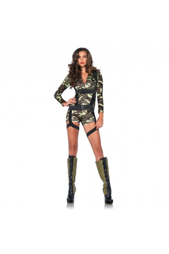 Going Commando Army Womens Costume