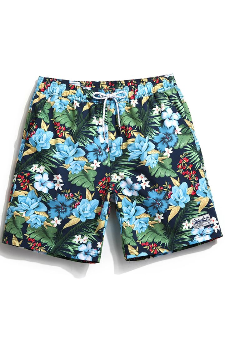 Mens Swim Trunks Funny Pig Quick Dry Beach Board Shorts with Mesh Lining