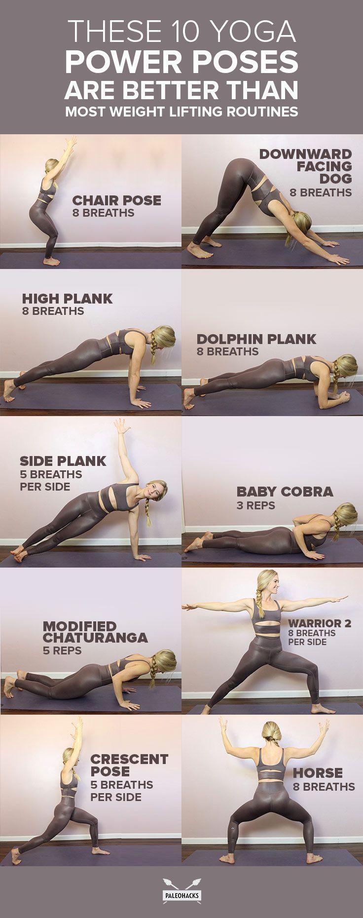 Diese 10 Yoga-Power-Posen sind besser als die meisten Trainingsroutinen  #besser...  #besser #diese #meisten #posen #power #trainingsroutinen #yogafitnesstoning