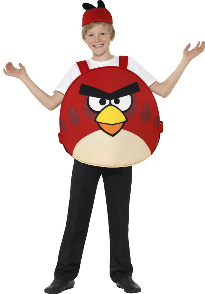 Kids Red Bird Tabard Costume, Angry Birds Fancy Dress | Escapade ...