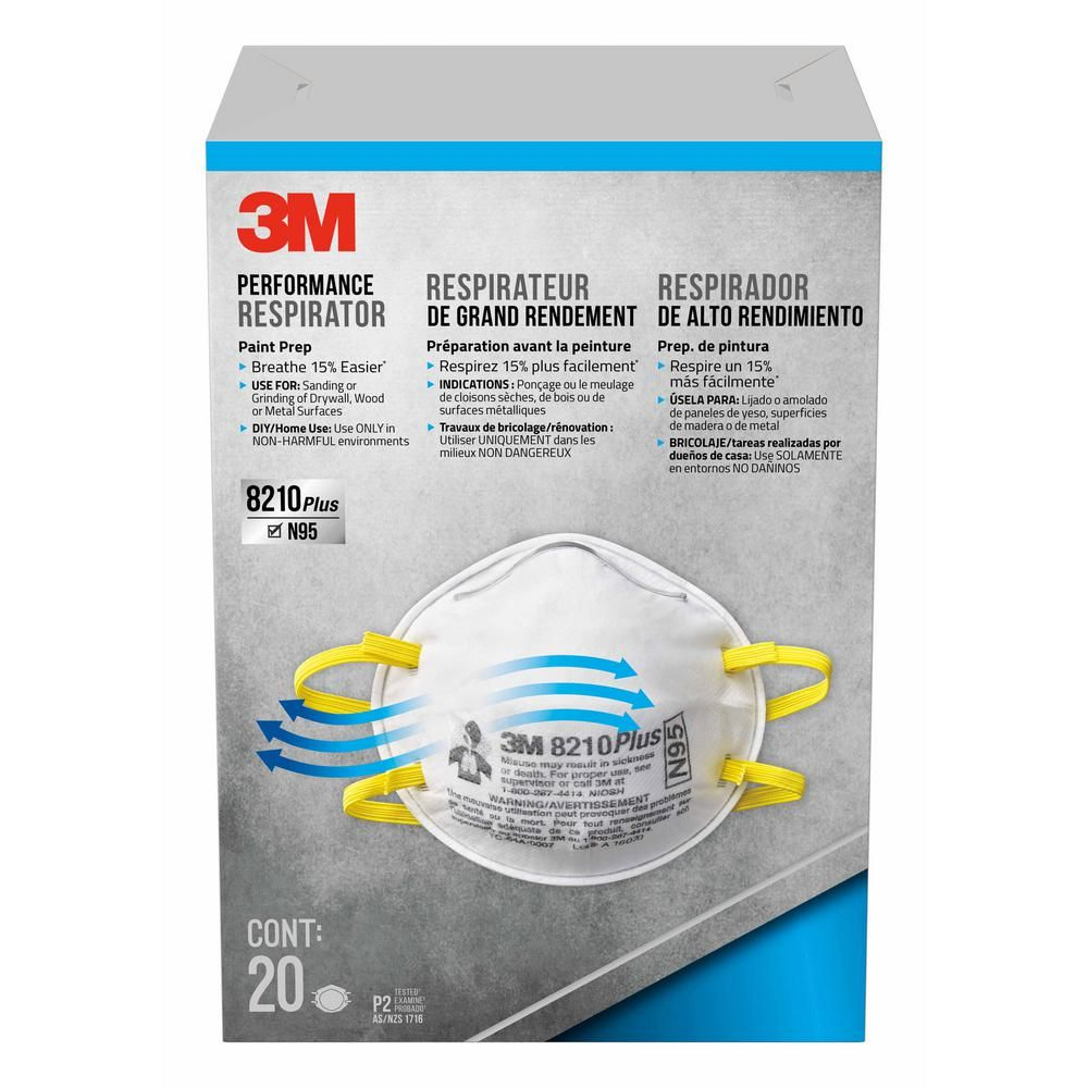 3m N95 Particulate Performance Disposable Paint Prep Respirator