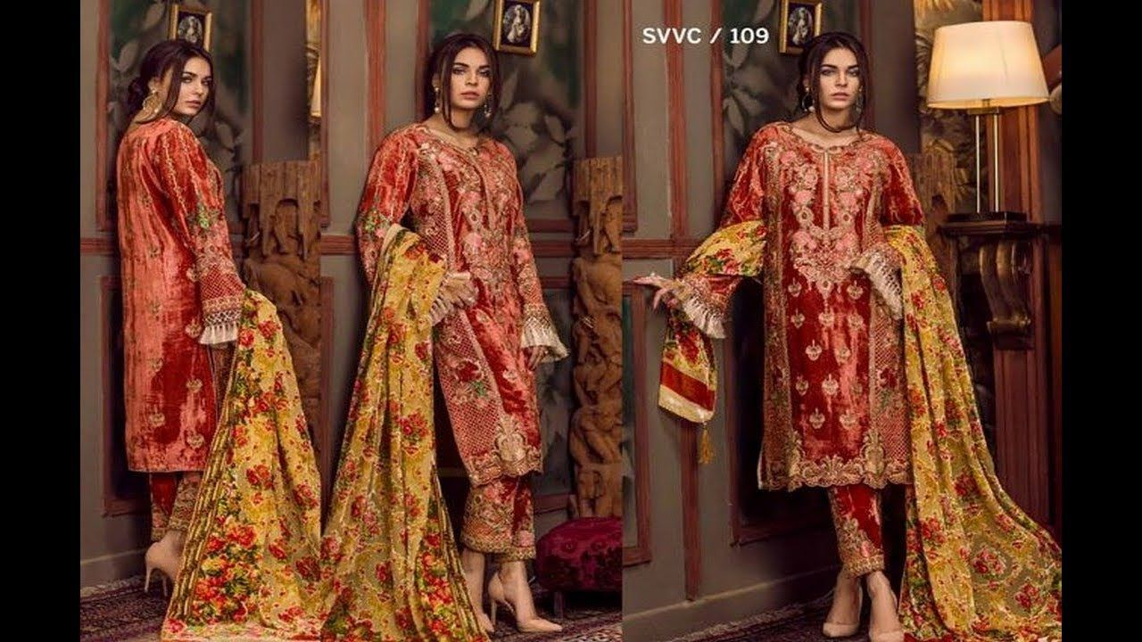 f1c4fc0799 Shaista Cloth Embroidered Velvet Winter Collection 2018 For Women ...