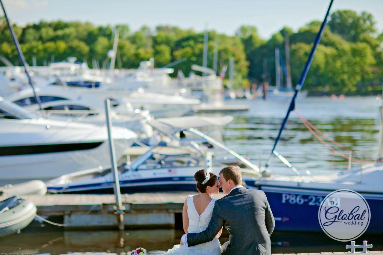 Свадьба в яхт-клубе. Wedding yacht.